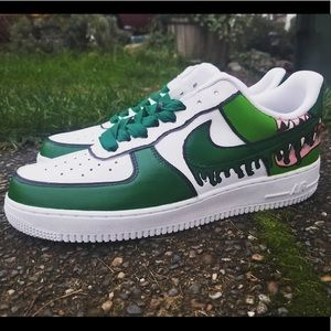 Spooky Nike AF1 Lows By KC Fresh Kicks